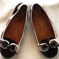Black &white Jeffrey Campbell Handmade Leather Moccasins Size 8.5 Photo