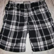 Black & White Plaid Shorts Waist 29 Express Photo