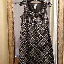 Black & White Silk Taffeta Dress by Fossil - Size Small Photo