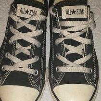 Black &white Youth Size 2 Converse All Star Low Top  Photo