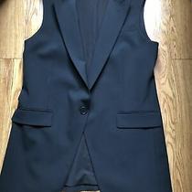 Black Women Long Vest Theory Elegant Size 10 Photo
