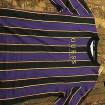 Black Yellow and Gold Long Sleeve Guess Shirt. Worn Only Once to Try On. Photo