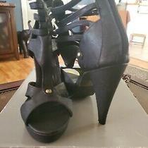 Black Zip Up Back Heels. Size 6 Photo
