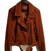 Blank Nyc Corduroy Burnt Orange Moto Jacket Xl Photo