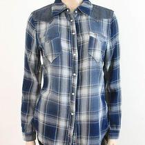 Blank Nyc Cowboy Dan Plaid Shirt Top Western Blue M 88 6409c Bmp Photo