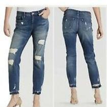 Blank Nyc Crop Girlfriend Destroyed Jeans Women's Size 30 5 Pockets  Photo