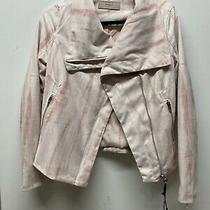 Blank Nyc Faux Suede Tie Dye Full Zip Jacket Women's Size Xs Pink Blush Nwt Photo