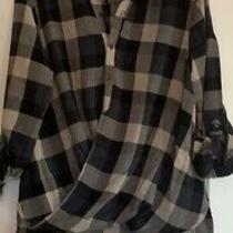 Blank Nyc Nwt Buffalo Check Shirt Sz Med Photo