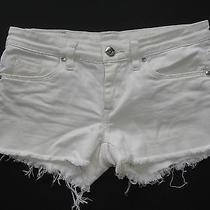 Blank Nyc Off White Beige Cut Offs Jean Shorts 25 Photo