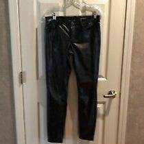 Blank Nyc Skinny Classique Soft Faux Leather Jeans Pants Size 27 Black Photo