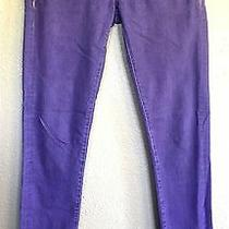 Blank Nyc Slim Fit Purple Skinny Jeans Denim Pants Women's Size 26 Euc Photo