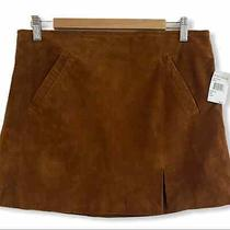 Blank Nyc Spice Brown Suede Leather Mini Skirt Size 31 Photo