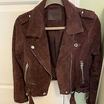 Blank Nyc Wine Suede Moto Jacket Size S Photo