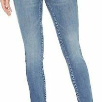 Blank Nyc Women the Reade Crop Mid Rise Skinny Jeans Stretch Denim Pants Blue 28 Photo