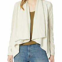 Blank Nyc Womens Jacket Taupe Beige Size Small S Draped Asymmetric Zip 69 334 Photo
