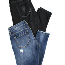 Blank Nyc Womens Mid Rise Skinny Jeans Black Blue Size 26/27 Lot 2 Photo