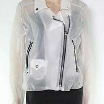 Blank Nyc Womens Moto Jacket Size Large L Frosted White Full Zip 98- 506 Photo
