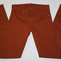Blanknyc Dark Pumpkin Orange Skinny Leg Trouser Pants  Size 25 0 Photo