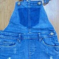 Blanknyc Girls Denim Overall Shorts Size 12 Preowned Excellent Condition 13 Photo