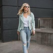 Blanknyc Suede Moto Fitted Jacket Sz S  Mint Nwt Photo