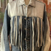 Blanknyc Two Tone Fringed Denim Jacket Size Small Sold Out Everywhere. New. Rare Photo