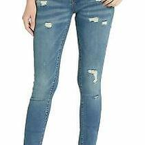Blanknyc Womens Jeans Blue Size 24x30 Skinny Leg Distressed Stretch 88 662 Photo