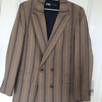 Blazer Brown With Stripes Size Small Zara Photo