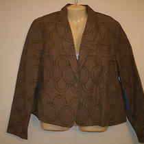 Blazer Jacket Gray Size Xl Extra Large- Vera Wang - New With Tags - Retail 68 Photo