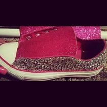 Bling Pretty Pink Converse Custom Design Shoes Photo