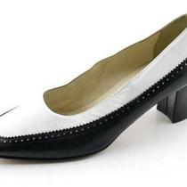 Blk & White Bally Locle Spectator Leather Heels Pumps 8 C Italy Photo
