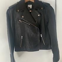Bloggers Favorite Nwt Club Monaco Leather Moto Jacket  Photo