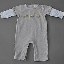 Bloomie's Baby Boys Gray Construction One-Piece 9 Months Euc Photo
