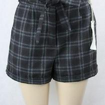 Blossom & Clover Flannel Shorts Gray Plaid Fully Lined Size 12 Lulu Photo