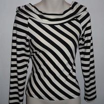 Blu Reed Ladies Boat Neck Blk. & Wht. Top Size Large Photo