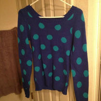 Blue and Aqua Polka Dot Sweater Medium Photo