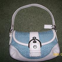 Blue and White Coach  Bag Photo
