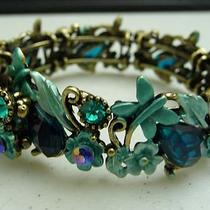 Blue Aqua Bronze Gem Crystal Bling Elegant Cute Lovely Bracelet Wristbands Photo
