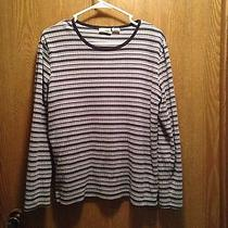 Blue & Black Stripped Shirt Large by Classic Elements Photo