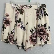 Blue Blush 100% Rayon Blush Pink Floral Pullon Shorts Size M Photo
