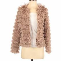 Blue Blush Women Brown Faux Fur Jacket S Photo