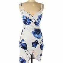 Blue Blush Women White Cocktail Dress M Photo