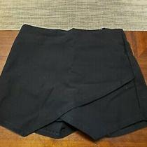 Blue Blush Womens Junior Size S Black Tight Zipper Back Skort 11