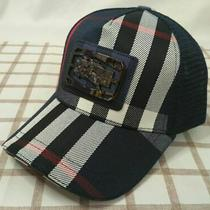 Blue Burberry Mesh Cap Golf Baseball Hat Mens Adjustable  Photo