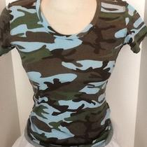 Blue Camouflage T-Shirt Photo