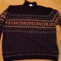Blue Classic Elements Acrylic Turtleneck Sweater Xl Photo
