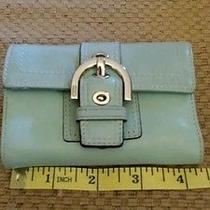 Blue Coach Wallet Photo