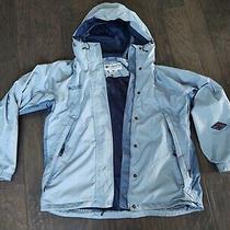 Blue Columbia Packable Omni Tech Ski Rain Jacket Womens Sz L Outdoors Sportswear Photo