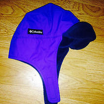 Blue Columbia Sportswear Hat With Ear Flaps for Infants Photo