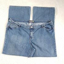 Blue Denim Stretch Flare Jeans Plus Size 28w(4632) Pockets Venezia Lane Bryant  Photo