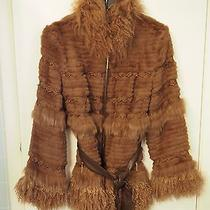 Blue Duck Sheared Rabbit & Mongolian Lamb Jacket Size Sm Photo